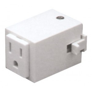 Elco lighting ep814w track outlet adapter white open box item aloadofball Image collections
