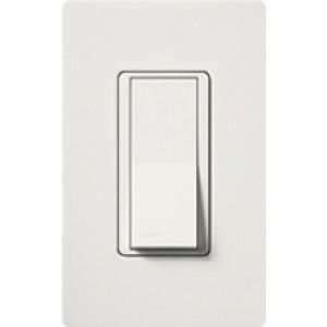 Lutron CA4PSNLWH Light Switch Claro Decorator Rocker Switch 4 - 4 Way Rocker Light Switch