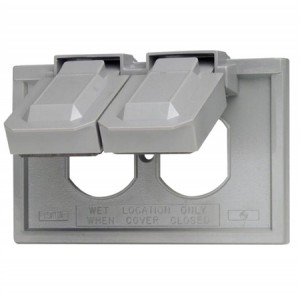 Leviton 4976 Gy Duplex Receptacle 1 Gang Weatherproof Cover