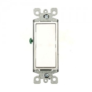 Leviton 5603-2W Rocker Light Switch, 3-Way White