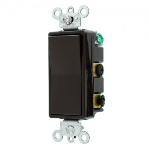 Leviton 56042 Light Switch Decora Rocker Switch 4Way Brown - 4 Way Rocker Light Switch