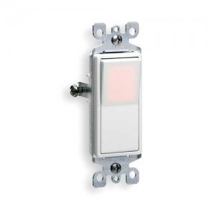 Rocker Light Switch >> Leviton 5611 2w Light Switch Decora Illuminated Rocker Switch Single Pole White