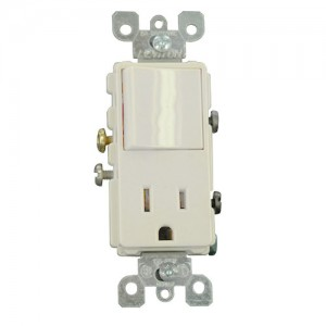 Leviton 5625-TSP Combo Switches