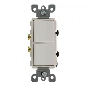 Leviton 5627-W Combo Switches