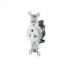 Leviton 5801-W Single Outlets