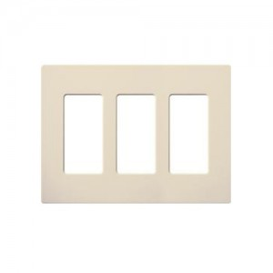 Leviton 80311 Si Electrical Wall Plate Decora Screwless 3 Gang Ivory