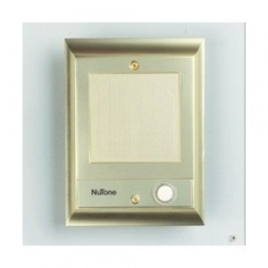 Nutone IS69PB Cast Metal Intercom Door Speaker With Lighted Pushbutton    Polished Brass