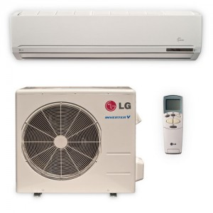 lg ls186he ductless air conditioning single zone wall mount mini split system w heat pump. Black Bedroom Furniture Sets. Home Design Ideas