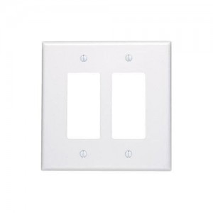Oversized Switch Plates Fascinating Leviton 88602 Electrical Wall Plate Oversized Decora 2Gang  White Inspiration Design