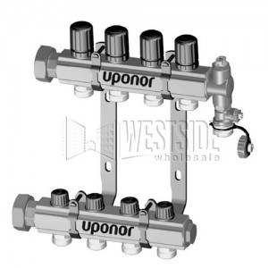 Uponor Wirsbo A2660201 TruFLOW Jr  Manifold Assembly with B & I Valves -  Radiant Heating & Cooling, 2-Loop