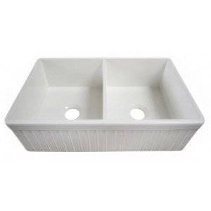 Alfi Brand AB537-W Double Bowl Kitchen Sink