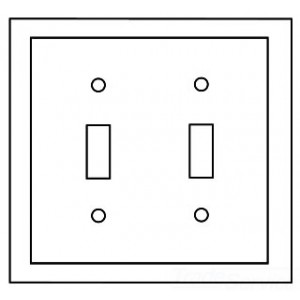 COOPERE00016_O33_PE_002 cooper wiring 4139v box decora style wall plate, (2) toggle switch