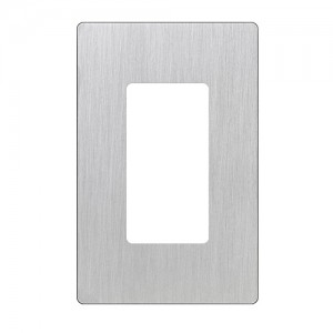 Lutron CW-1-SS 1-Gang Screwless Wall Plate