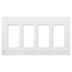 Lutron CW-4-WH Decora Wall Plates