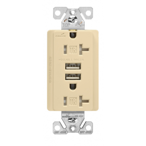 Enjoyable Cooper Wiring Tr7746V Box Electric Outlet Arrow Hart 15A 125V Usb Charger W Tamper Resistant Duplex Receptacle Ivory Wiring Database Gramgelartorg