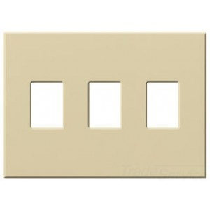 lutron vwp 3 iv decora style wall plate 3 gang standard dimmer switch architectural matte. Black Bedroom Furniture Sets. Home Design Ideas