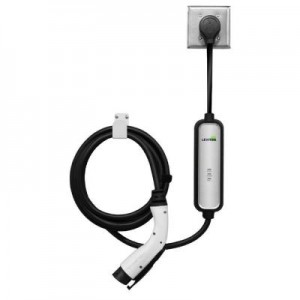 Leviton EVBL2-P18 EV Charging Station, Evr-Green Mini, Level 2, 20-Amp  w/18' Charge Cable - 4 8-kW Output