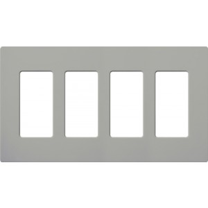 Lutron CW-4-GR Decora Wall Plates