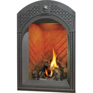 Napoleon Afk82wi 1 Fireplace Arched Facing Kit For Gd82t Lattice Pattern Wrought Iron