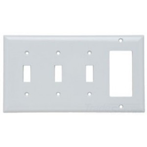 Pass & Seymour SP326W 100-Pack Combination Wall Plate, (1 ...