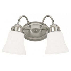 Sea gull lighting 44019 962 bathroom lighting 100w e26 - 8 light bathroom fixture brushed nickel ...
