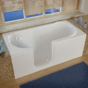 Meditub SI3060LWA 30x60 Left Drain White Air Jetted Step-In Bathtub