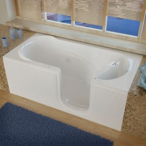 Meditub SI3060RWH Step-In Whirlpool Tubs