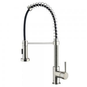 VIGO Industries VG02001ST Kitchen Faucet, Pull-Out Spray - Stainless Steel