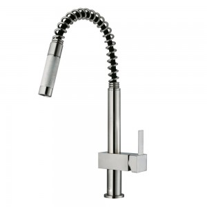 VIGO Industries VG02009ST Kitchen Faucet, Pull-Out - Stainless Steel