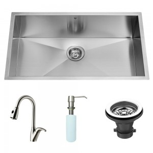 VIGO Industries VG15014 Kitchen Sink and Faucet Combos