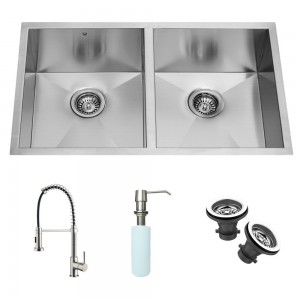 VIGO Industries VG15017 Kitchen Sink and Faucet Combos