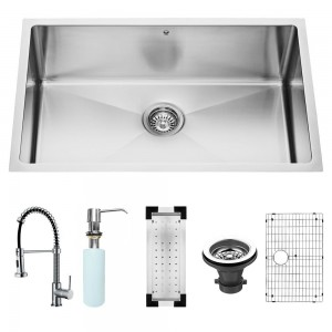 VIGO Industries VG15055 Kitchen Sink and Faucet Combos