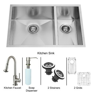 VIGO Industries VG15183 Kitchen Sink and Faucet Combos