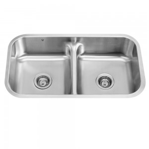 VIGO Industries VG3218 Double Bowl Kitchen Sink