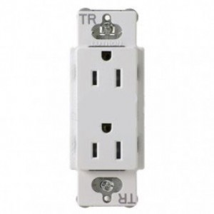 Lutron CARS 15 TR WH Electrical Outlet 15A Claro Tamper Resistant Receptacle