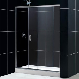 DreamLine DL-6002L-01CL Shower Door and Base Sets