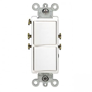 Leviton 5634-W Decora Combination Light Switch