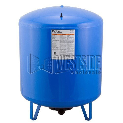 flotec fp7125 pressure tank vertical precharged water system tank 50 gallon