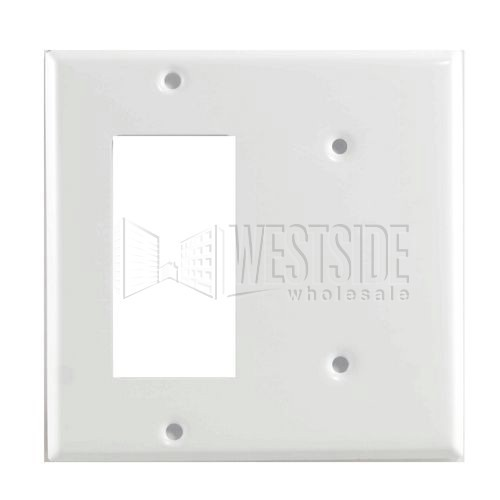Leviton P1426 W Electrical Wall Plate Metal Decora Combination 1