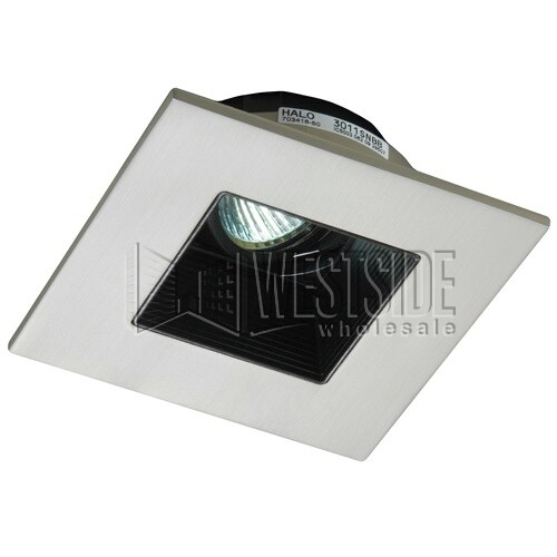 Halo 3012SNBB Recessed Lighting Trim 3  Lensed Showerlight Adjustable Baffle Square Trim - Satin Nickel with Black Baffle  sc 1 st  Westside Wholesale & Halo 3012SNBB Recessed Lighting Trim 3