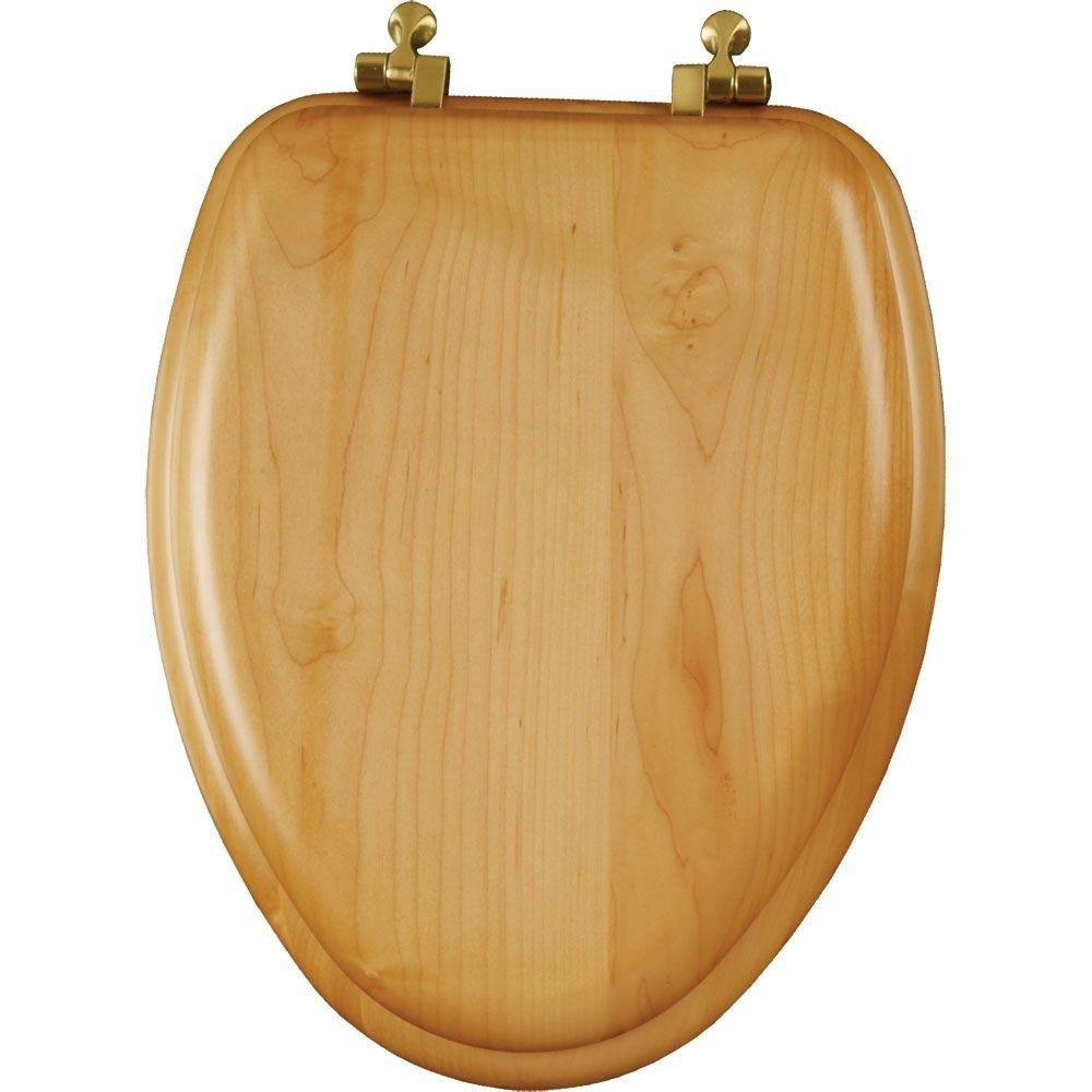 Superb Mayfair 19601Br 378 Toilet Seat Natural Reflections Wood Veneer Elongated Closed Front Molded Wood W Brass Hinges Natural Oak Pabps2019 Chair Design Images Pabps2019Com