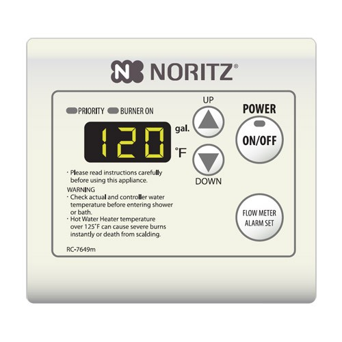 noritz rc-7649m tankless water heater remote controller