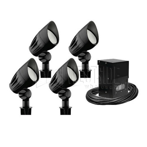 Malibu lighting cl08224t 8301 9900 04 flood light kit malibu lighting cl08224t 8301 9900 04 flood light kit 50w low voltage directional black matte 4 pack mozeypictures Choice Image