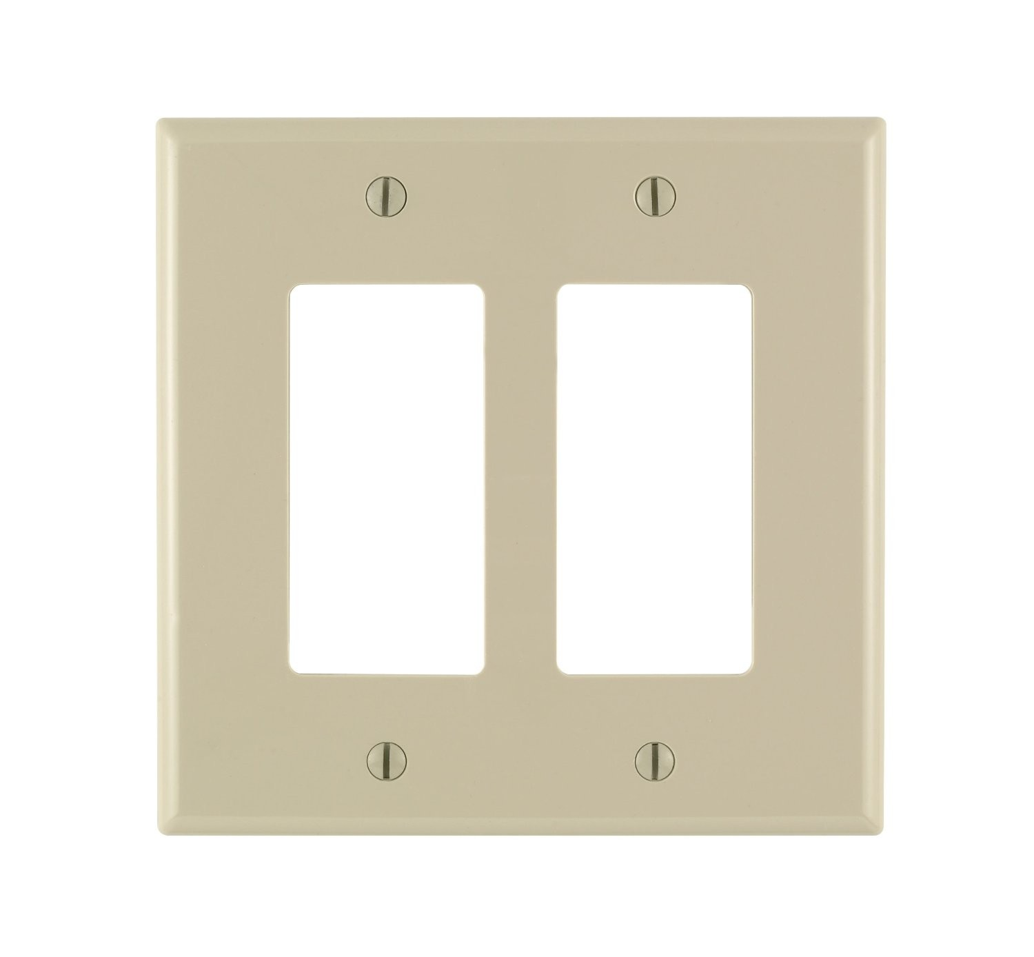 Oversized Switch Plates Leviton 86602 Electrical Wall Plate Oversized Decora 2Gang  Ivory