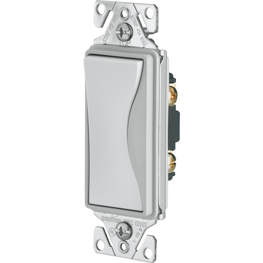 Cooper Wiring 9501WS Light Switch, Aspire Rocker Switch, Single-Pole ...