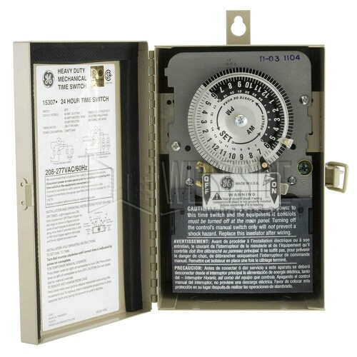 970208 1 ge 15307 timer, 240v 24 hour outdoor mechanical light timer  at fashall.co