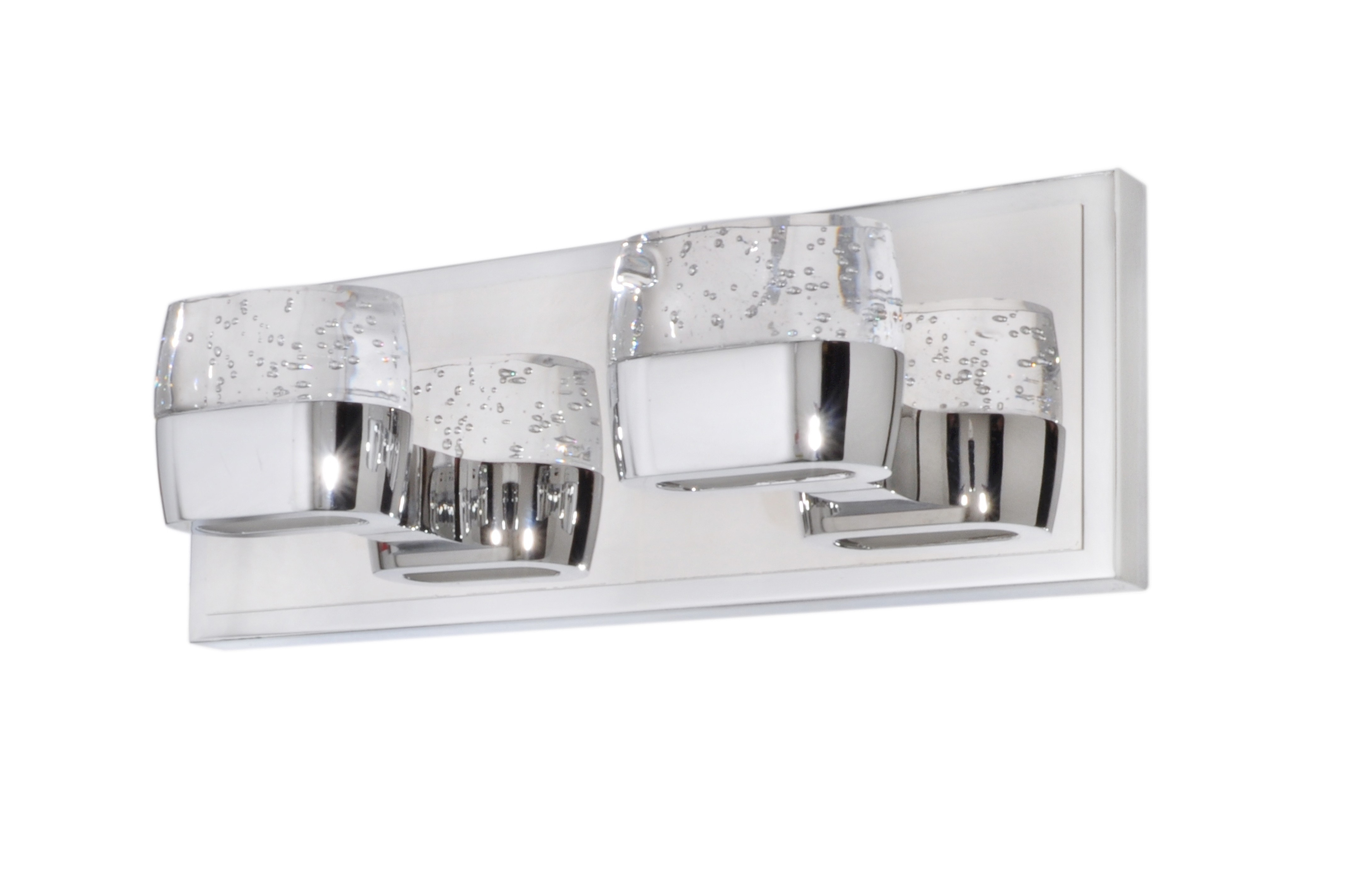 Et2 Contemporary Lighting E22892 89pc Led Bathroom Lighting Volt 2 Light Vanity Fixture Polished Chrome