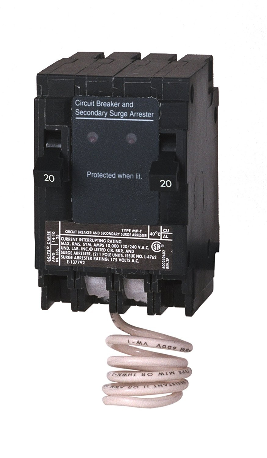 Murray Msa2020spd Space Saving Whole House Surge Protection