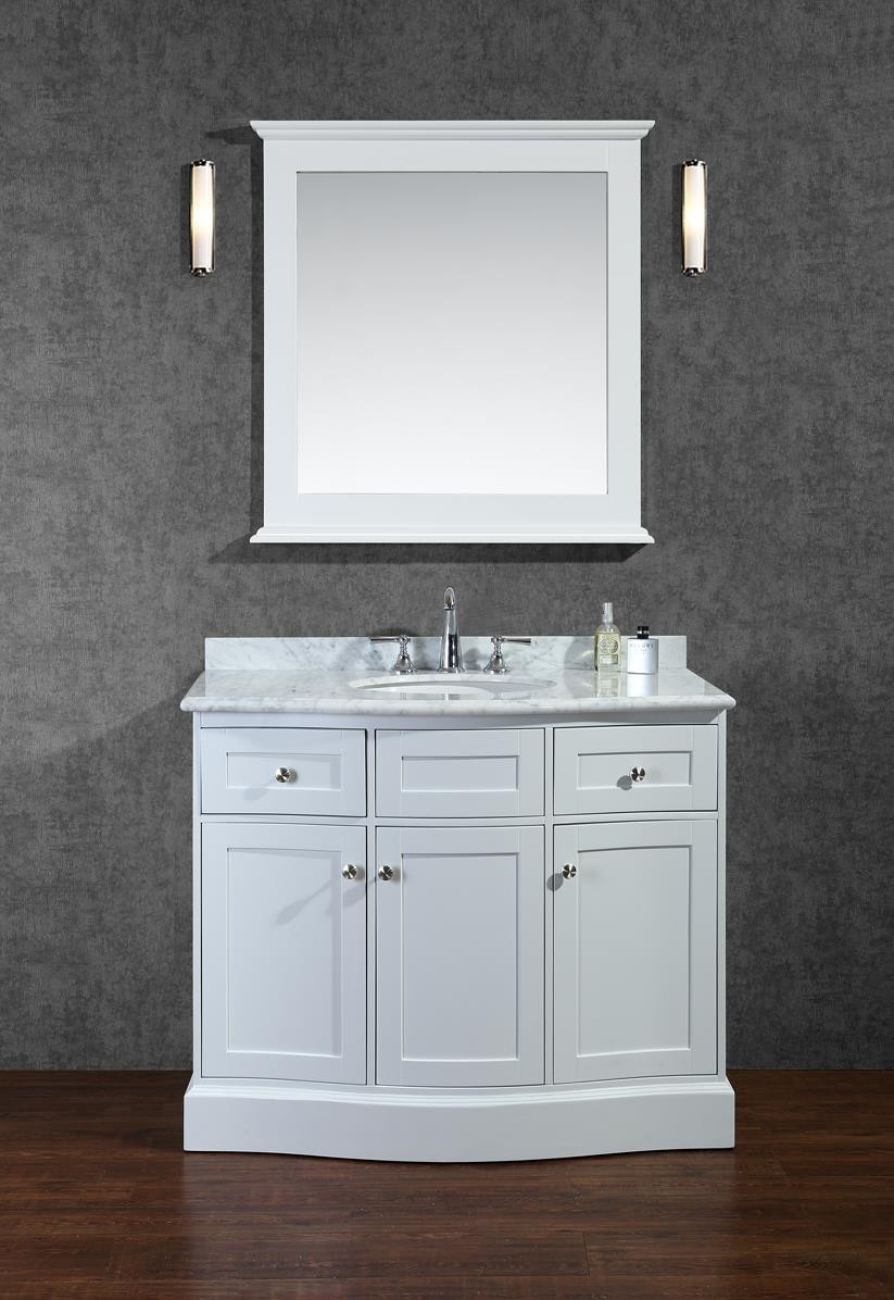 Ariel Bath SCMON42SWH by SeaCliff Designs Bathroom Vanity, 42\