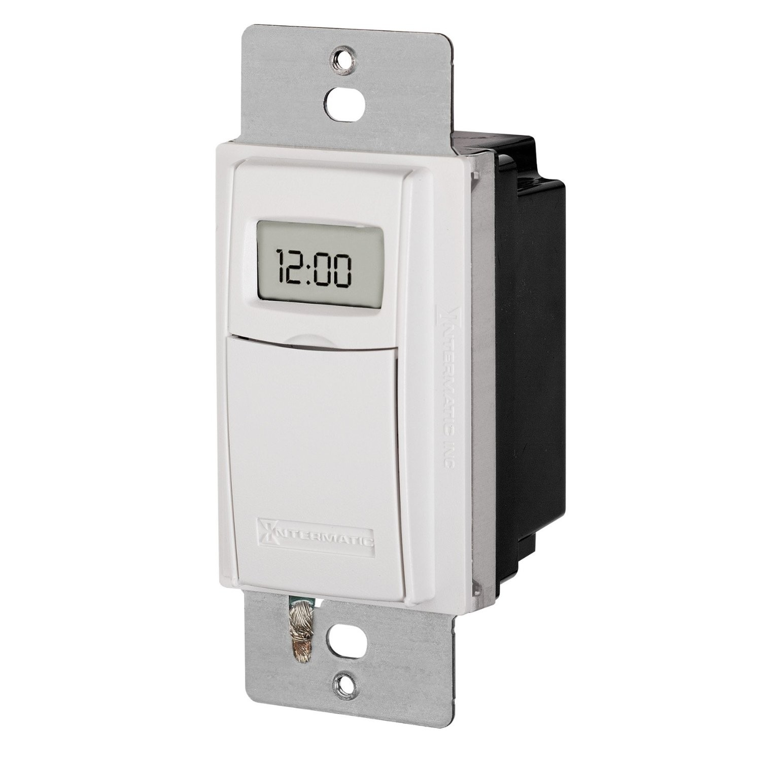 Intermatic ST01A Timer, 120/277V 15A 7-Day Digital In-Wall Timer - Almond